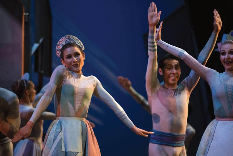 Coppelia - Ayva Rossouw-Holland Leandro Prado and Elizabeth Gagnon - Photo by Josh Mamaril
